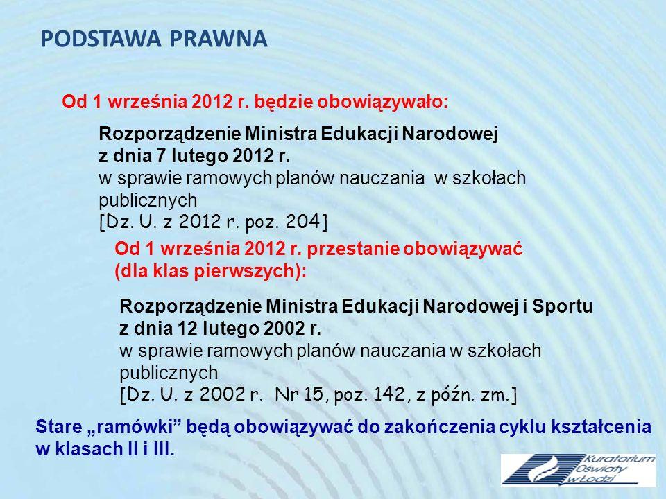 Rozporządzenie Ministra Edukacji Narodowej i Sportu z dnia 26 lutego 2002 r.