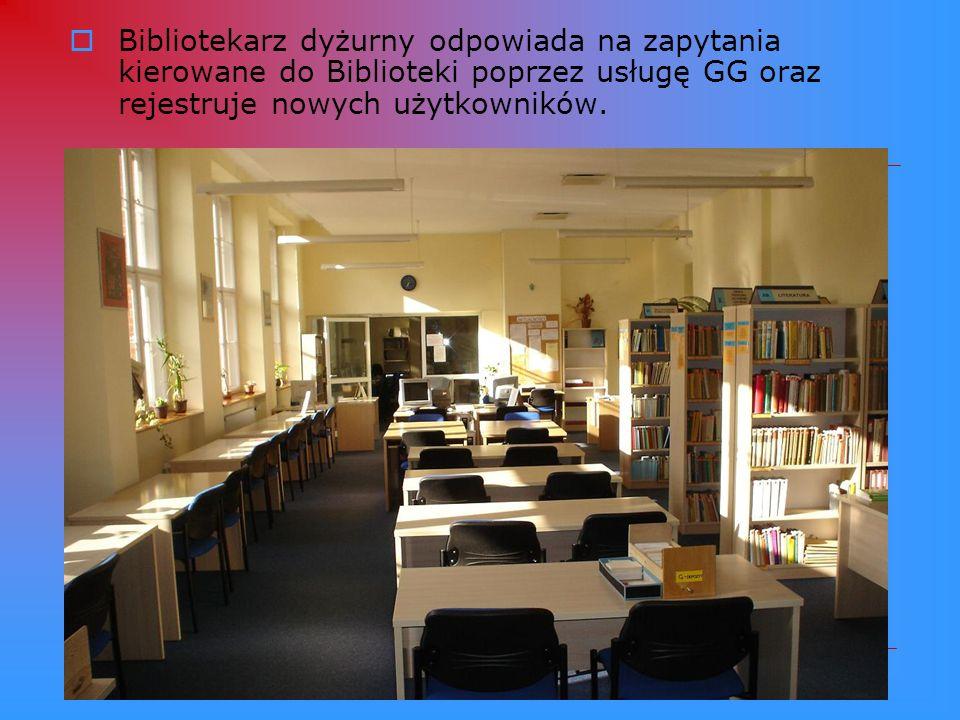 Windy towarowe ułatwiają komunikację między Czytelnią Książek, Czytelnią Czasopism i OIN.
