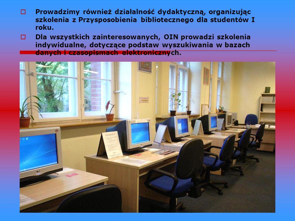 OIN posiada czytelnię z księgozbiorem podręcznym oraz czytelnię multimedialną, umożliwiającą dostęp do nowoczesnych źródeł informacji w Internecie, na