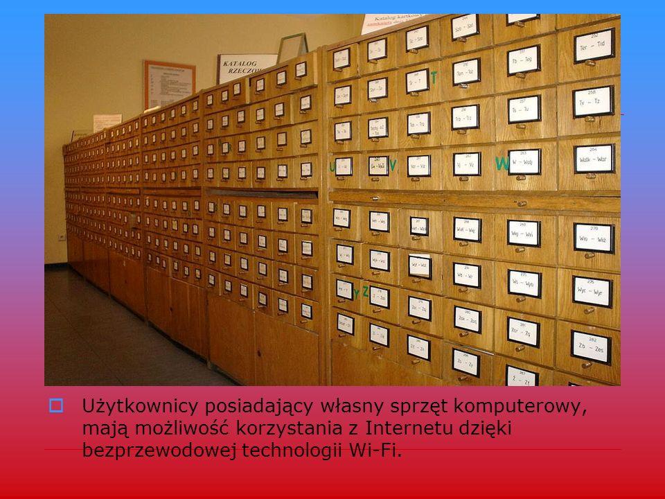 Tradycyjny katalog rejestruje nabytki do 2001r. Główny katalog elektroniczny w systemie Koha, rejestruje wszystkie tytuły nabyte przez Bibliotekę po 1