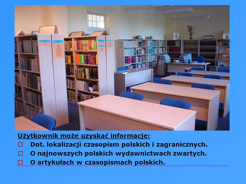 Służymy pomocą przy : Korzystaniu z bibliografii, informatorów, słowników, abstraktów, baz danych, zasobów internetowych, czasopism elektronicznych. O