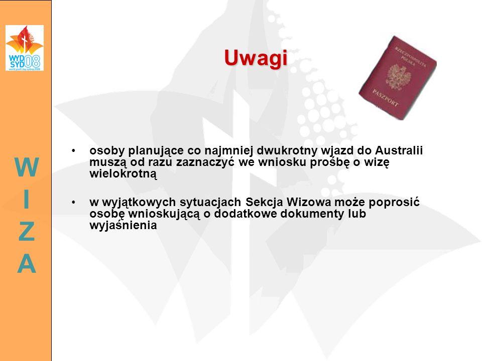 osoby planujące co najmniej dwukrotny wjazd do Australii muszą od razu zaznaczyć we wniosku prośbę o wizę wielokrotną w wyjątkowych sytuacjach Sekcja