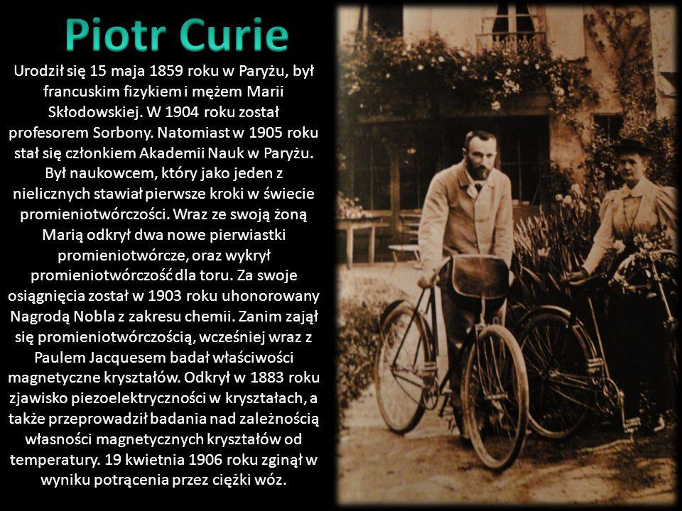 W Paryżu w 1891 roku Maria Skłodowska – Curie zdała egzaminy wstępne na wydział fizyki i chemii Sorbony, jako pierwsza kobieta w historii. W dzień pra