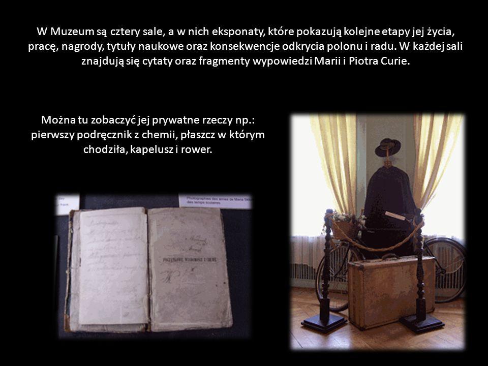 Jedyne na świecie biograficzne Muzeum Marii Skłodowskiej Curie znajduje się przy ul. Freta 16 w Warszawie, mieści się w zabytkowej kamienicy z XVIII w
