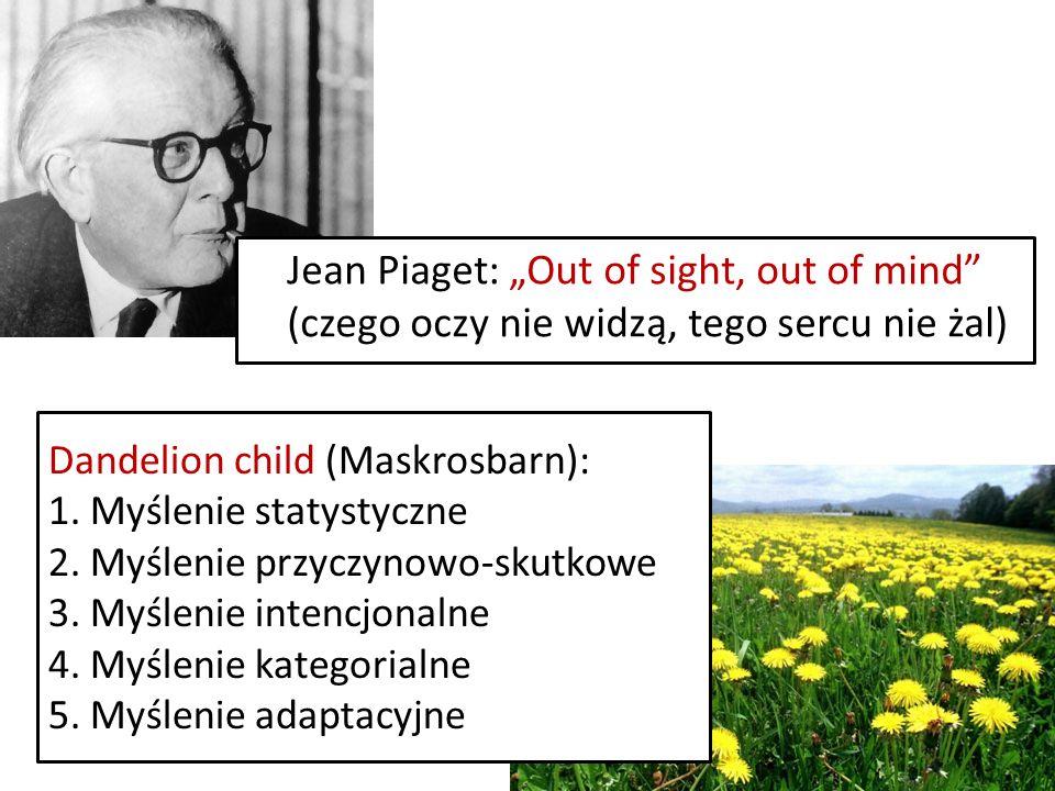 Jean Piaget: Out of sight, out of mind (czego oczy nie widzą, tego sercu nie żal) Dandelion child (Maskrosbarn): 1.