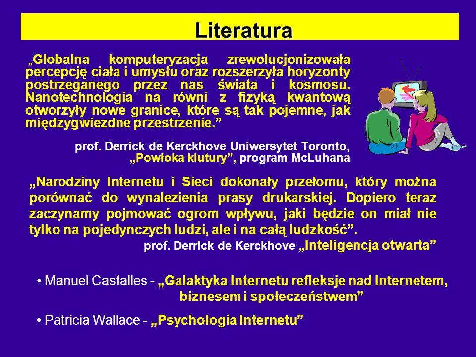 Literatura Literatura s Nesssia Laniado, Gianfilippo Pietra – Gry komputerowe, Internet i telewizja s Parry Aftab - Internet a dzieci.