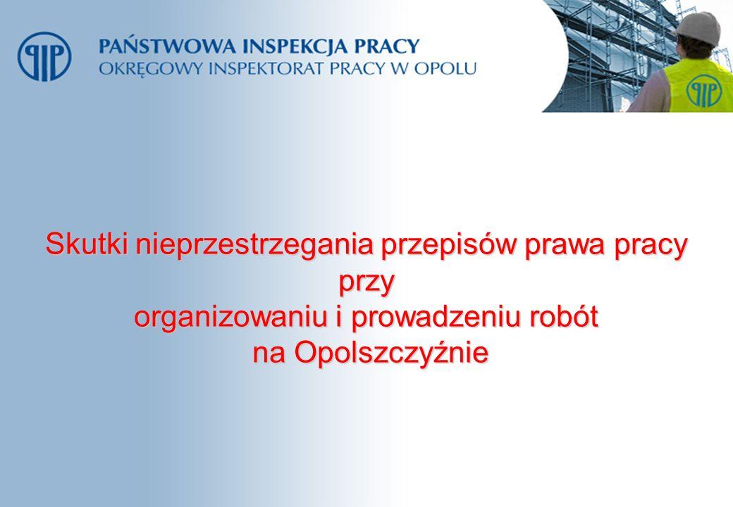 Skutki nieprzestrzegania przepisów prawa pracy przy organizowaniu i prowadzeniu robót na Opolszczyźnie na Opolszczyźnie