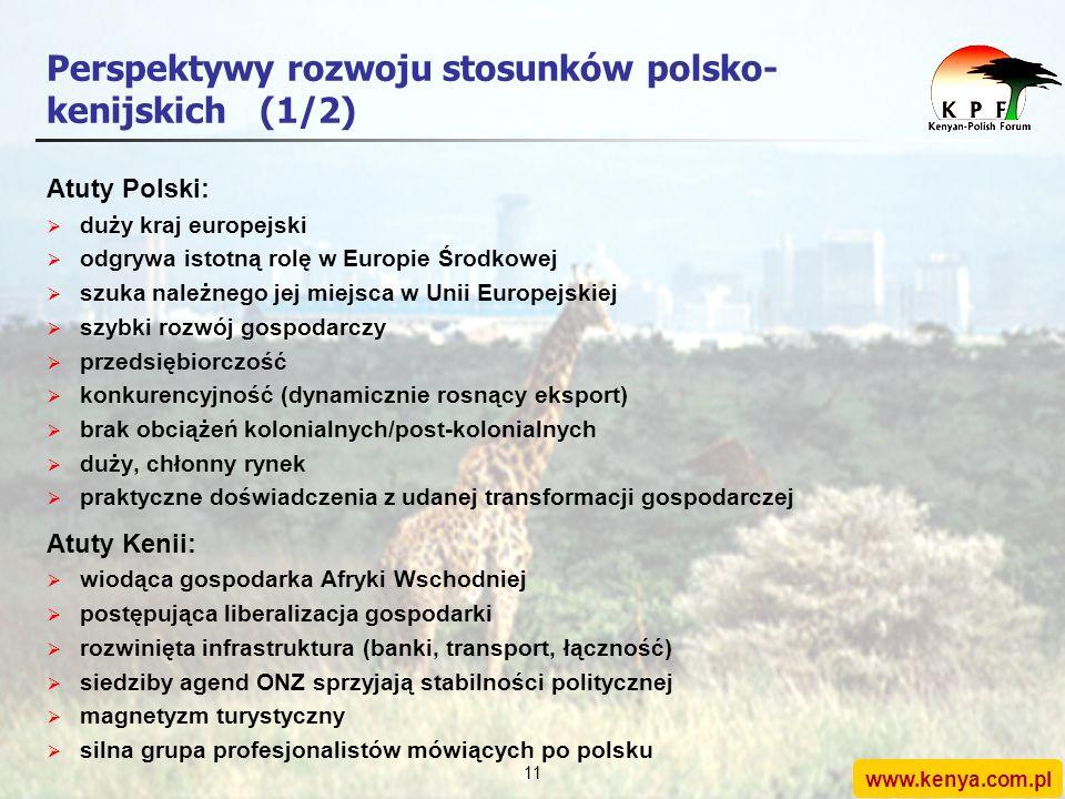 www.kenya.com.pl 10 Agenda 1.Stosunki polsko-kenijskie: rys historyczny 2.Perspektywy rozwoju 3.Rola Forum Kenijsko-Polskiego 4.Konkluzje