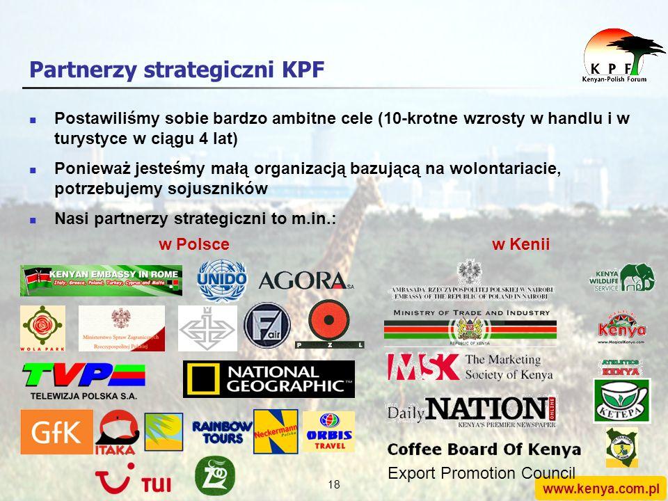 www.kenya.com.pl 17 Działalność KPF Ograniczenia finansowe i kadrowe wymuszają na nas inteligentne działania, a nie tradycyjne/kosztowne 1.Organizujem