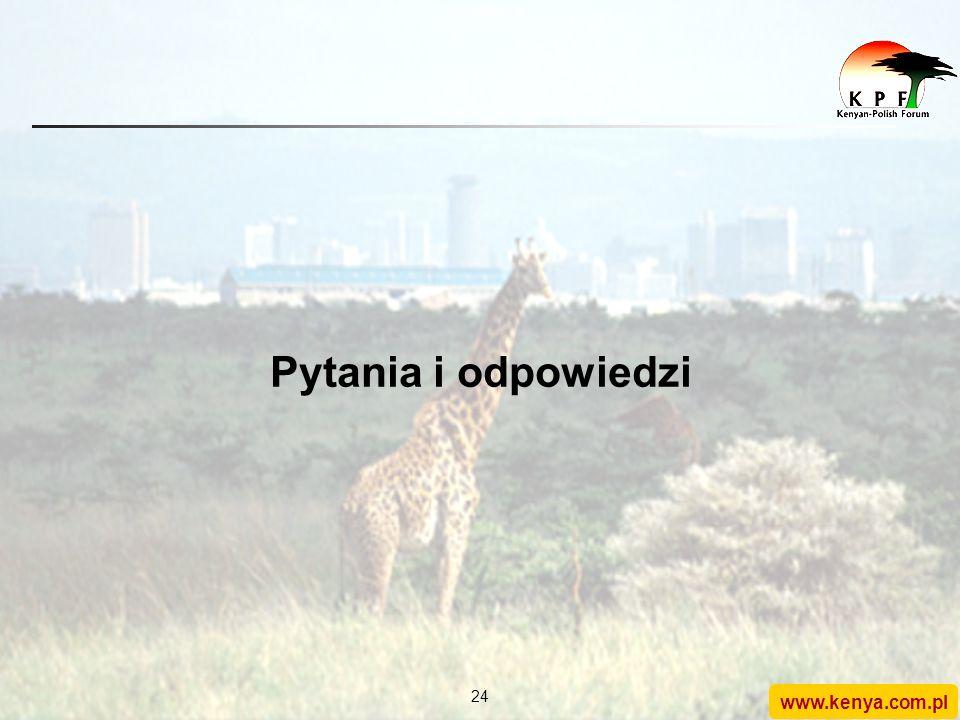 www.kenya.com.pl 23 Konkluzje Polska, aby być liczącym się członkiem UE, potrzebuje dużej aktywności międzynarodowej W Afryce (i nie tylko) brakuje Po