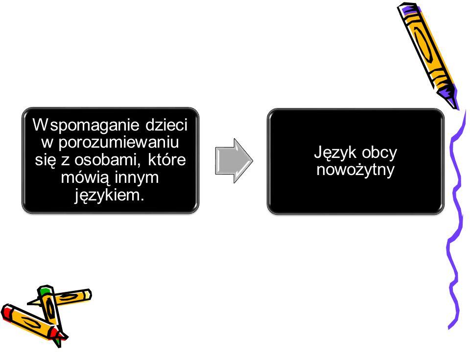 Wspomaganie dzieci w porozumiewaniu się z osobami, które mówią innym językiem. Język obcy nowożytny