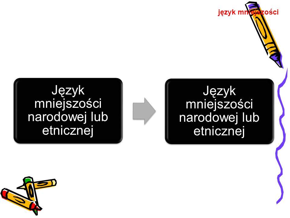 Język mniejszości narodowej lub etnicznej język mniejszości