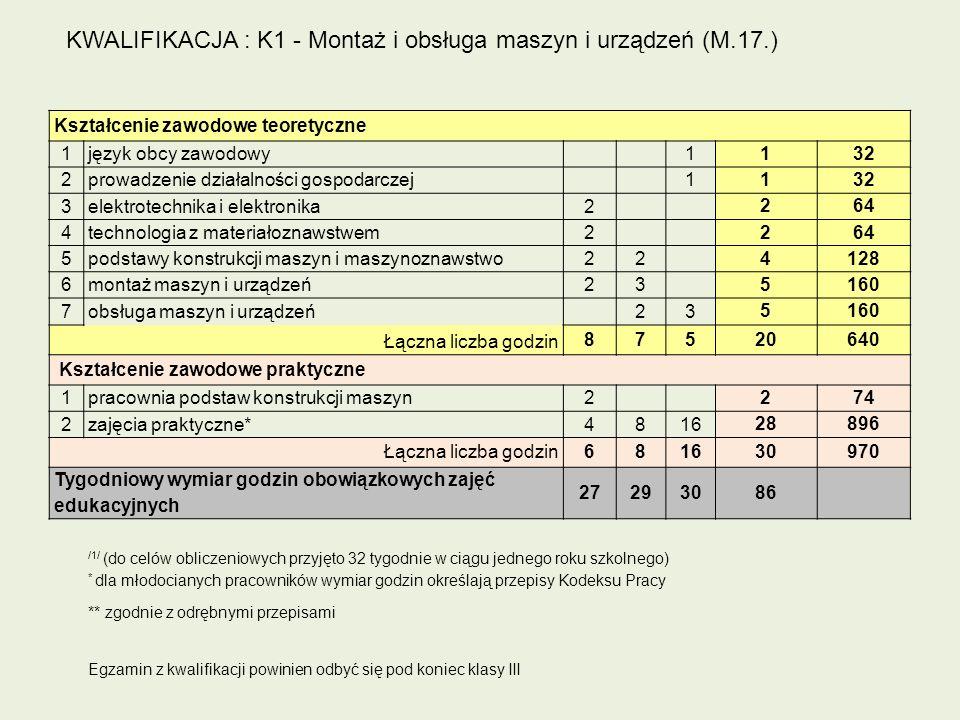 Kształcenie zawodowe teoretyczne 1język obcy zawodowy 1 132 2prowadzenie działalności gospodarczej 1 132 3elektrotechnika i elektronika2 264 4technolo