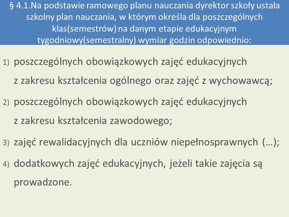 § 4.2.rozporządzenia Ministra Edukacji Narodowej z dnia 7 lutego 2012 r.