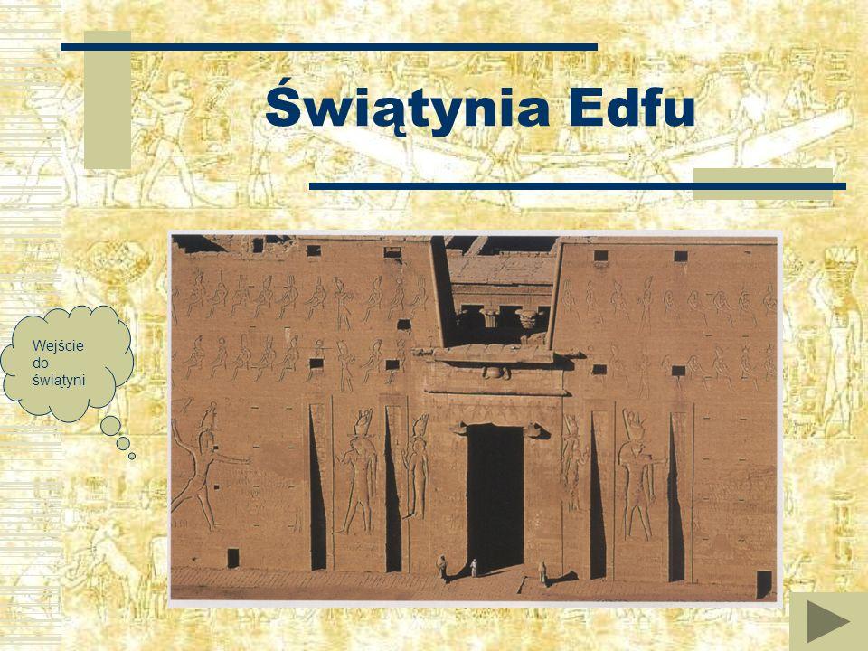 Świątynia Edfu Wejście do świątyni