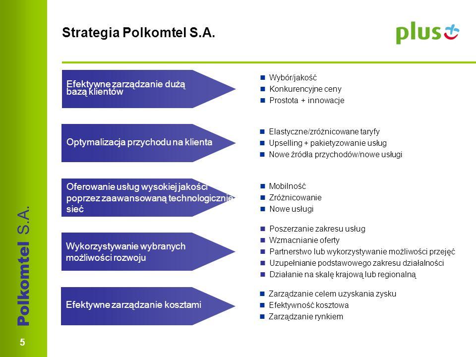 Polkomtel S.A. 5 Strategia Polkomtel S.A.
