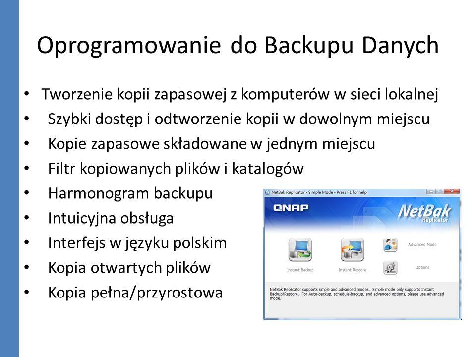 Oprogramowanie do Backupu Danych Tworzenie kopii zapasowej z komputerów w sieci lokalnej Szybki dostęp i odtworzenie kopii w dowolnym miejscu Kopie za