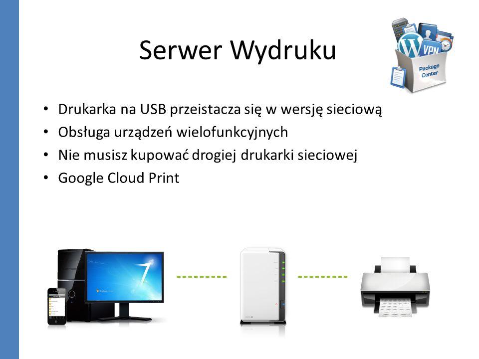 Serwer Wydruku Drukarka na USB przeistacza się w wersję sieciową Obsługa urządzeń wielofunkcyjnych Nie musisz kupować drogiej drukarki sieciowej Googl