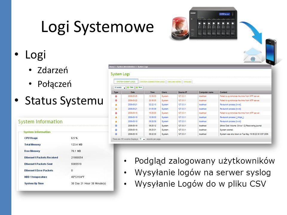iSCSI Zwiększenie pojemności serwera Miejsce docelowe na backup danych MPIO (Multipath Input Output) MC/S (Multiple Connections per Session) Autoryzacja CHAP, maskowanie LUN Microsoft Windows 2008 Failover Cluster