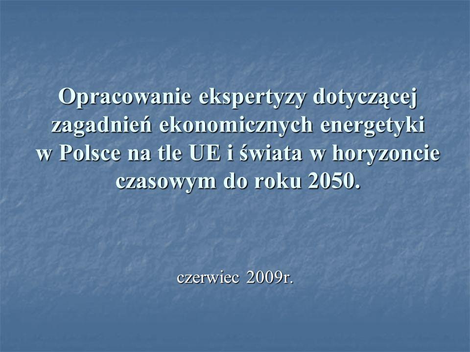 Opracowanie ekspertyzy dotyczącej zagadnień ekonomicznych energetyki w Polsce na tle UE i świata w horyzoncie czasowym do roku 2050.