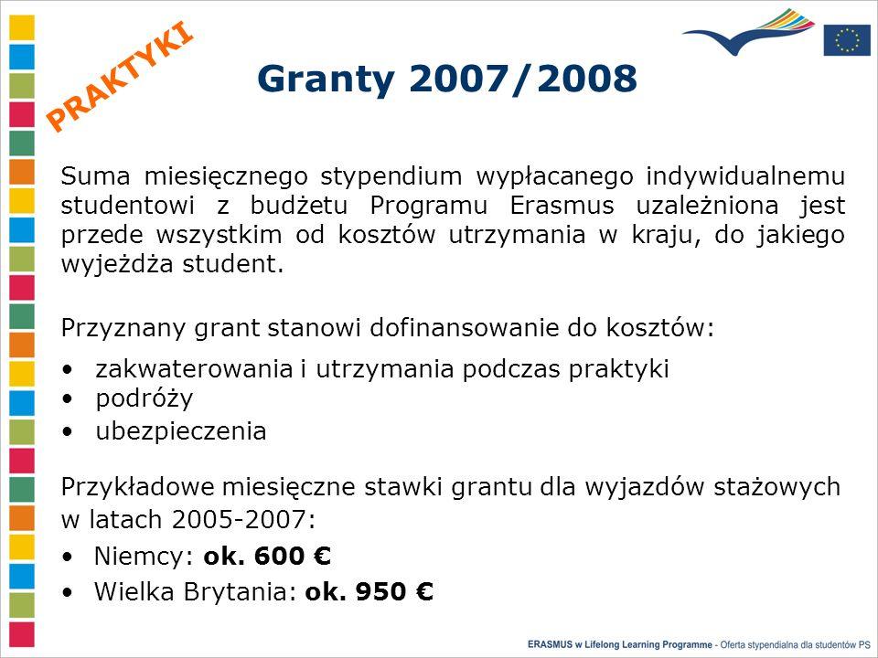 Granty 2007/2008 Niemcy: ok. 600 Wielka Brytania: ok.