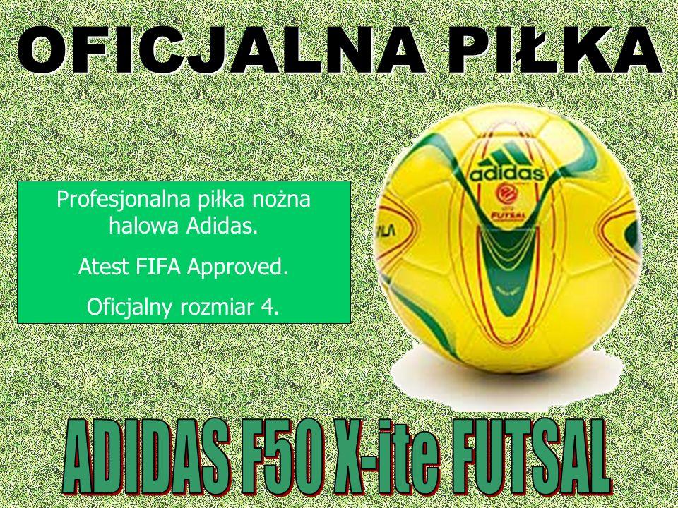 OFICJALNA PIŁKA Profesjonalna piłka nożna halowa Adidas. Atest FIFA Approved. Oficjalny rozmiar 4.