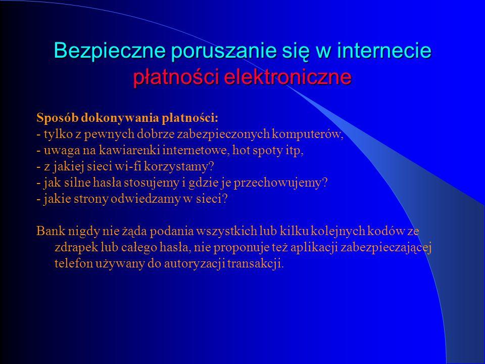 Bezpieczne poruszanie się w internecie płatności elektroniczne – trojan ZEUS Schemat ataku jest następujący: Cyberprzestępcy wykorzystują ZeuSa infekującego komputery do wykradania danych, niezbędnych do uzyskania dostępu do internetowych kont bankowych, oraz numerów telefonów komórkowych.
