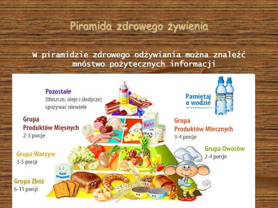 Piramida zdrowego żywienia W piramidzie zdrowego odżywiania można znaleźć mnóstwo pożytecznych informacji