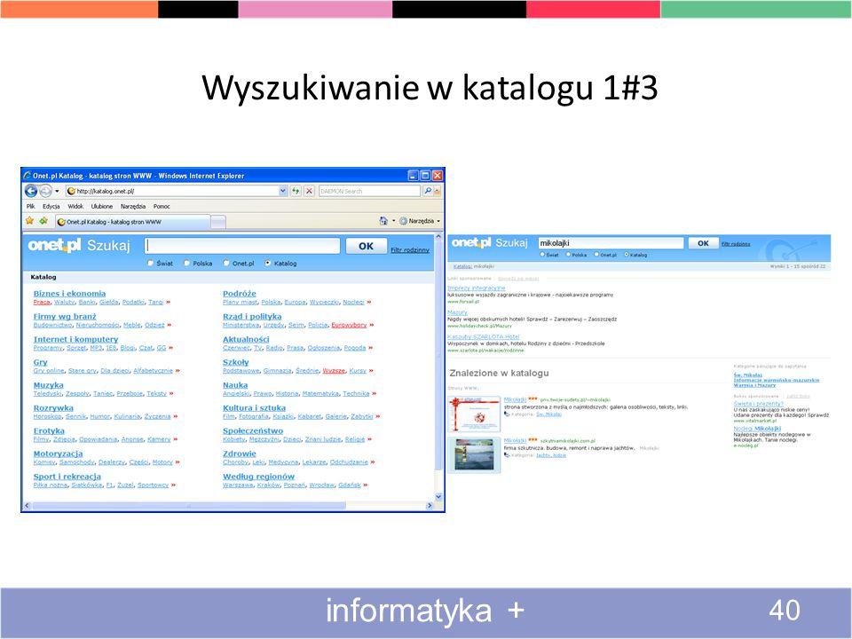 Serwisy katalogowe Serwis katalogowy (katalog) – strona internetowa, na której zgromadzone są informacje o tematyce innych stron i adresy tych stron W