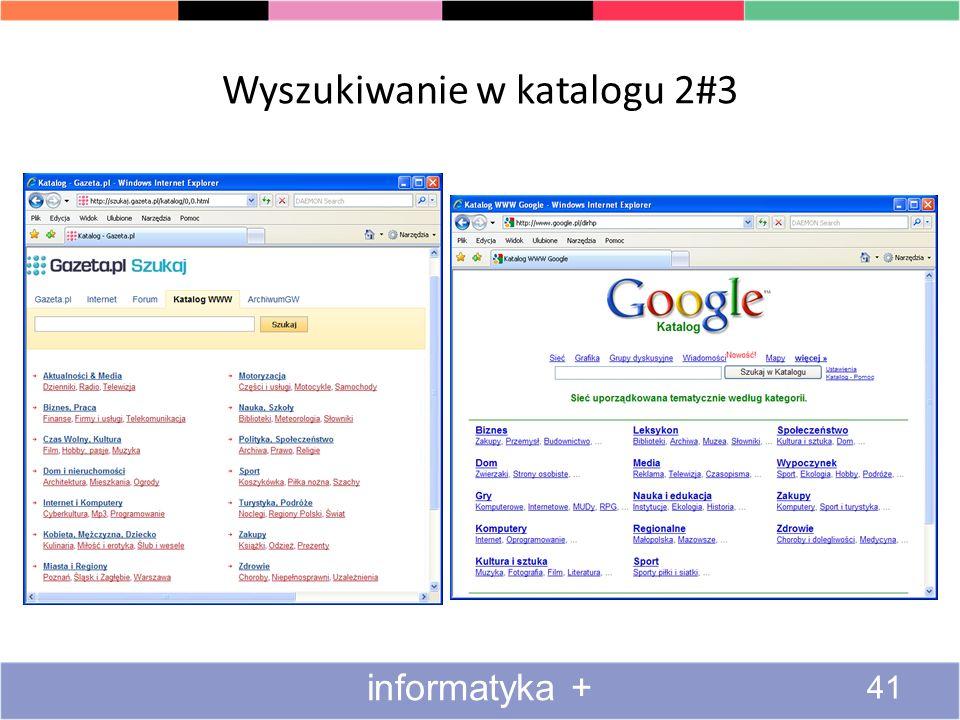 Wyszukiwanie w katalogu 1#3 40 informatyka +