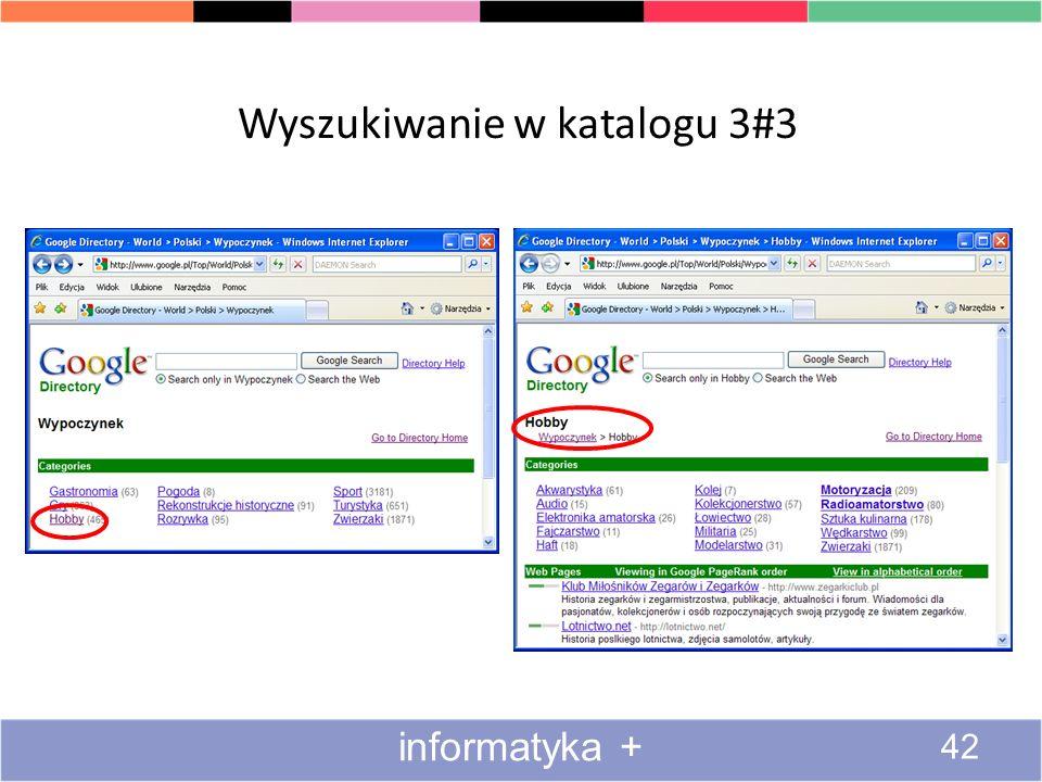 Wyszukiwanie w katalogu 2#3 41 informatyka +