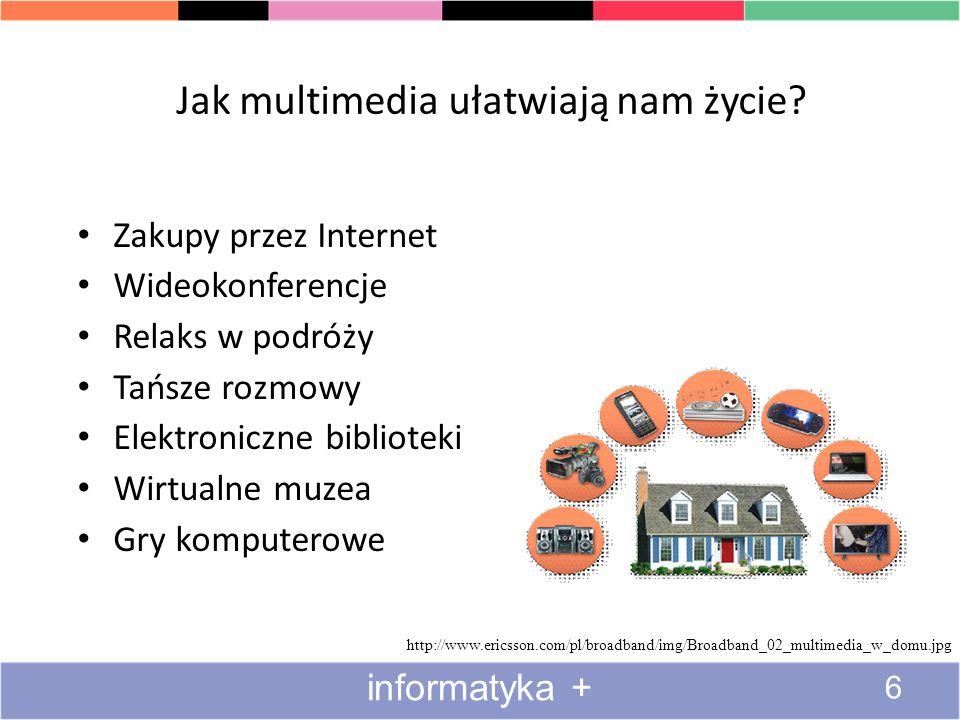 Definicja multimediów, czyli razem znaczy więcej niż suma Multimedia – techniki komputerowe, umożliwiające łączenie wielu sposobów przekazywania infor