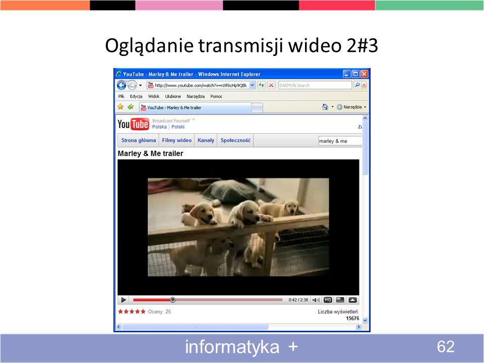 Oglądanie transmisji wideo 1#3 61 informatyka +