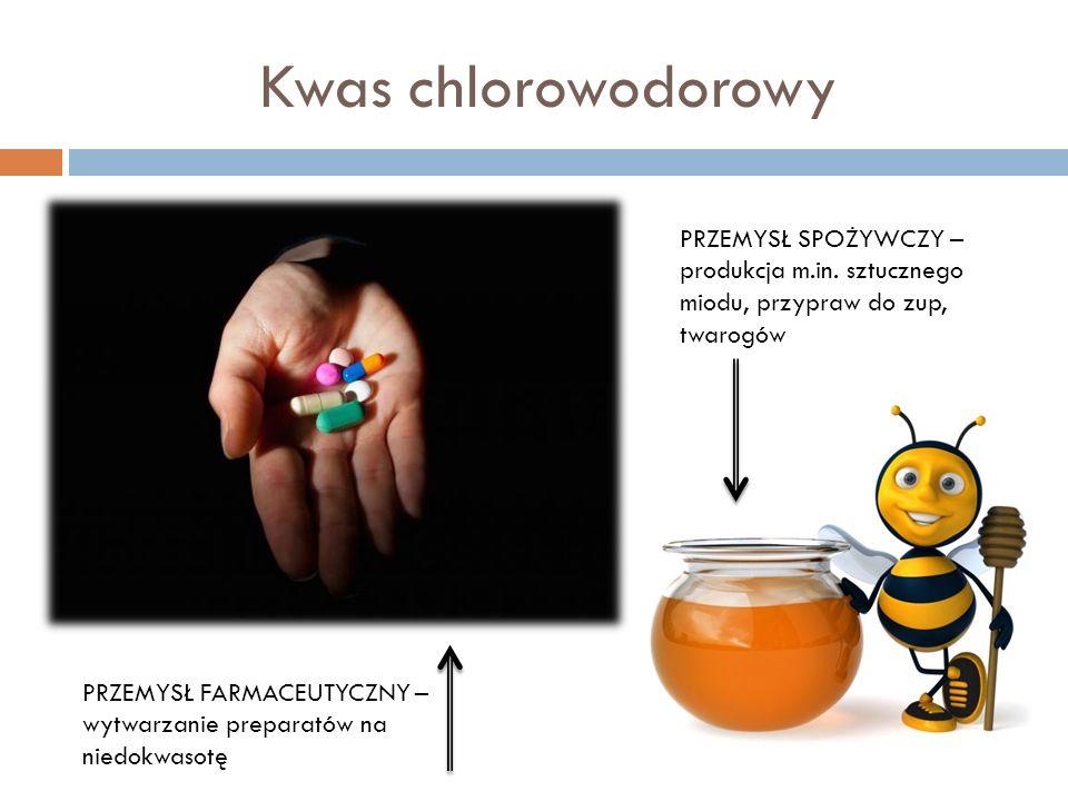Kwas siarkowodorowy PRZEMYSŁ KOSMETYCZNY – produkcja depilatorów chemicznych MEDYCYNA – jest składnikiem wód leczniczych LABORATORIA CHEMICZNE – do wykrywania jonów niektórych metali