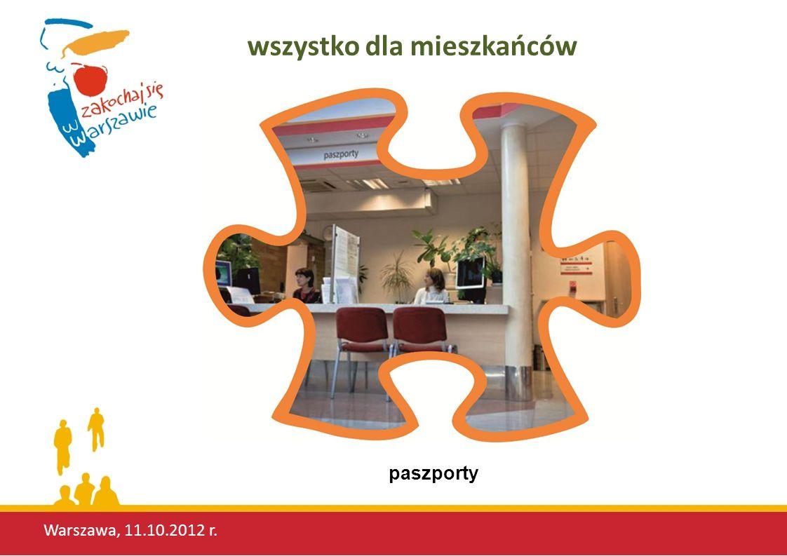 Warszawa, 11.10.2012 r. wszystko dla mieszkańców paszporty