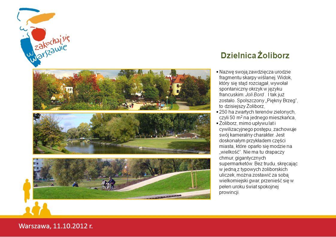 Warszawa, 11.10.2012 r. Nazwę swoją zawdzięcza urodzie fragmentu skarpy wiślanej.