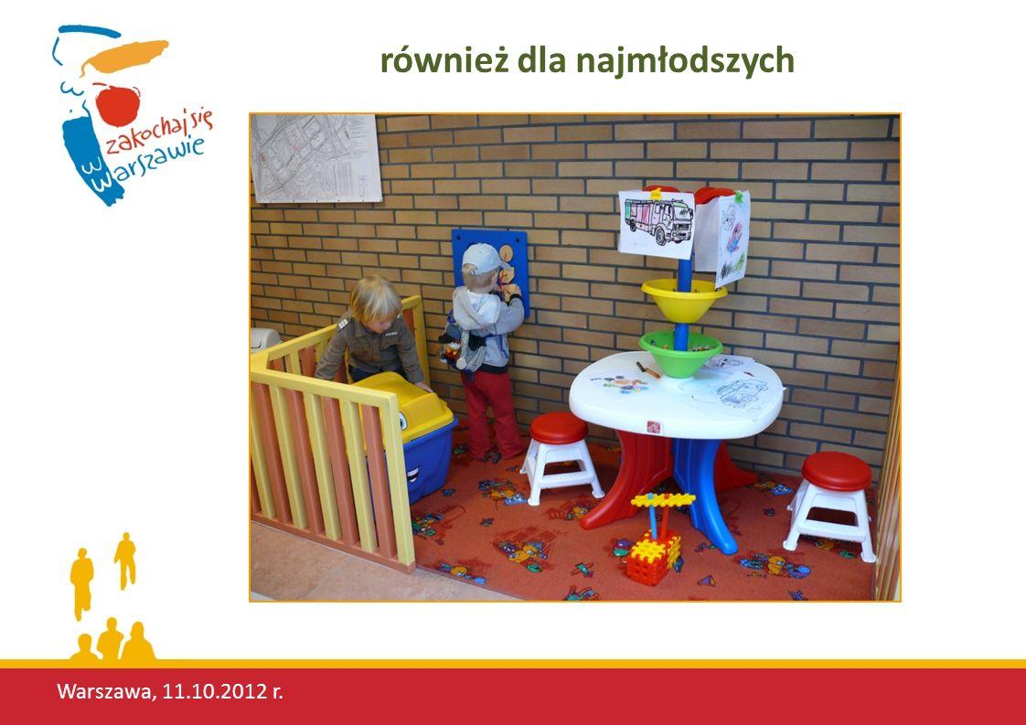 Warszawa, 11.10.2012 r. również dla najmłodszych