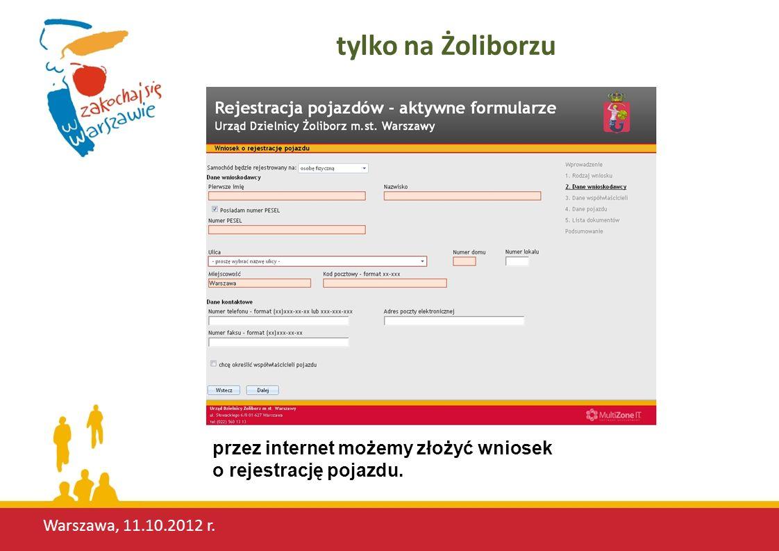 Warszawa, 11.10.2012 r. zadowoleni mieszkańcy