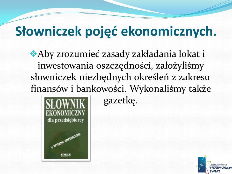 Słowniczek pojęć ekonomicznych.