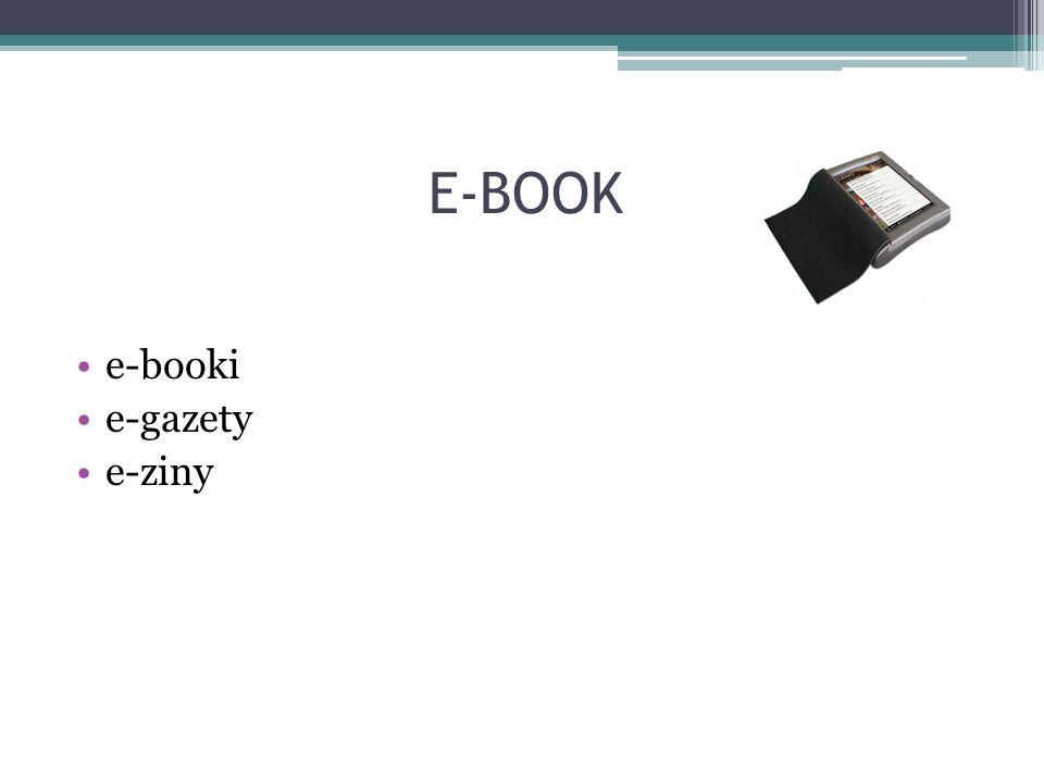E-BOOK e-booki e-gazety e-ziny