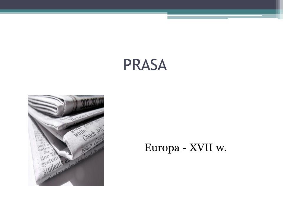PRASA Europa - XVII w.
