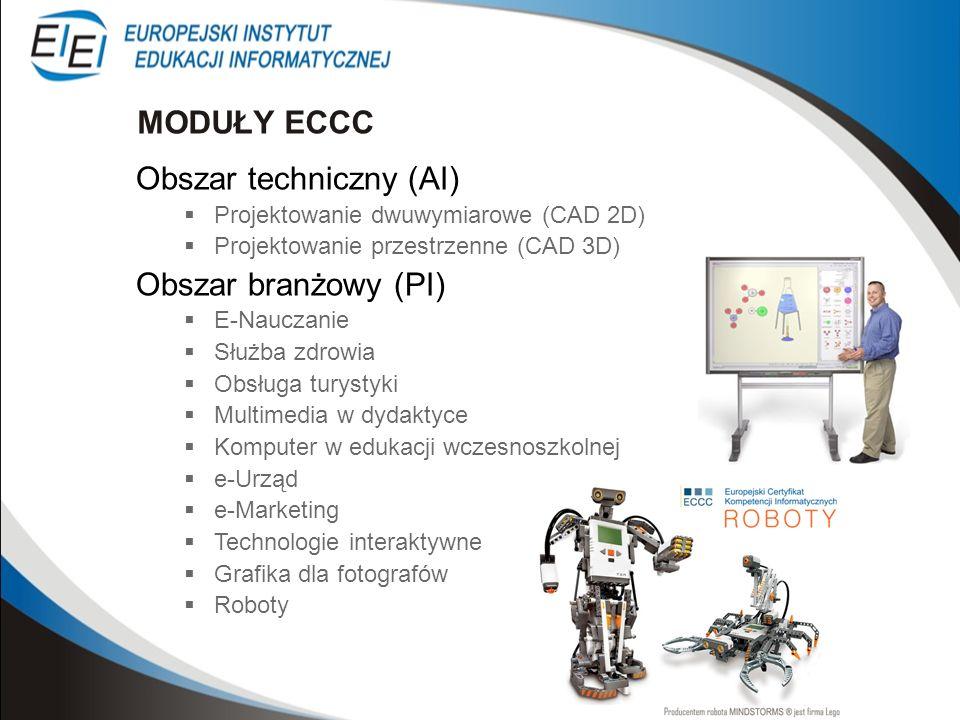 Obszar techniczny (AI) Projektowanie dwuwymiarowe (CAD 2D) Projektowanie przestrzenne (CAD 3D) Obszar branżowy (PI) E-Nauczanie Służba zdrowia Obsługa