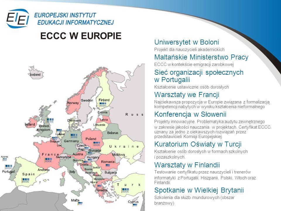 Uniwersytet w Boloni Projekt dla nauczycieli akademickich Maltańskie Ministerstwo Pracy ECCC w kontekście emigracji zarobkowej Sieć organizacji społec