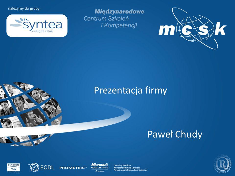 Prezentacja firmy Paweł Chudy