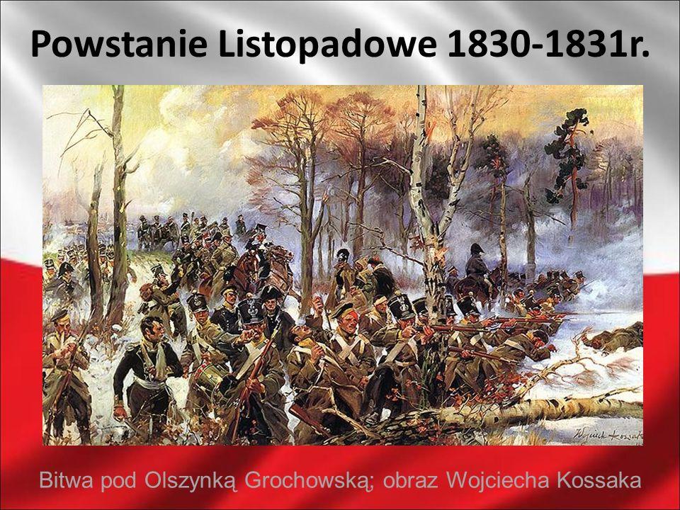 Powstanie Listopadowe 1830-1831r. Bitwa pod Olszynką Grochowską; obraz Wojciecha Kossaka
