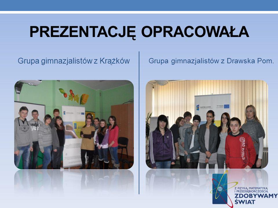 PREZENTACJĘ OPRACOWAŁA Grupa gimnazjalistów z Krążków Grupa gimnazjalistów z Drawska Pom.