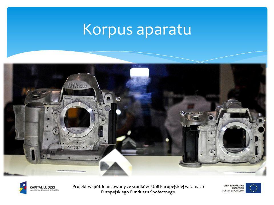 Korpus aparatu Projekt współfinansowany ze środków Unii Europejskiej w ramach Europejskiego Funduszu Społecznego