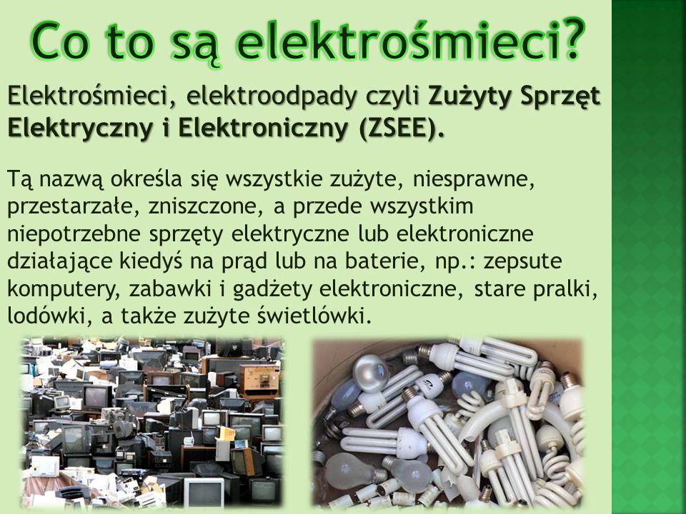 Zgodnie z obowiązującymi w Polsce przepisami sprzęt elektroniczny i elektryczny dzielimy na: 1.Wielkogabarytowa urządzenia AGD 2.