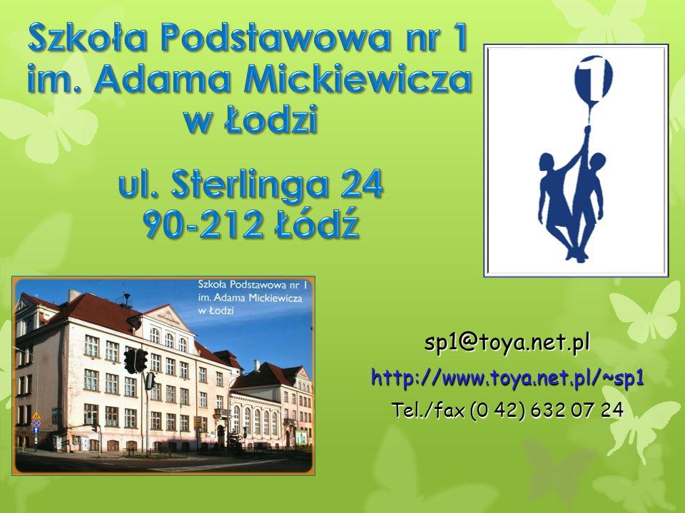 sp1@toya.net.plhttp://www.toya.net.pl/~sp1 Tel./fax (0 42) 632 07 24