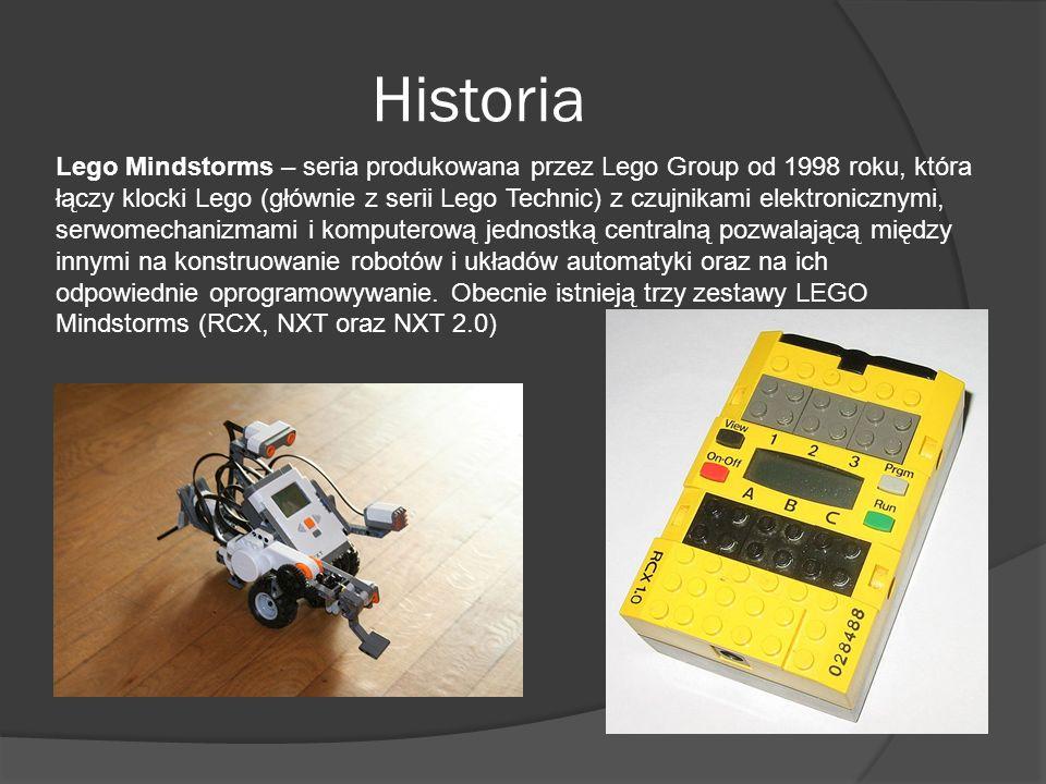 Historia Lego Mindstorms – seria produkowana przez Lego Group od 1998 roku, która łączy klocki Lego (głównie z serii Lego Technic) z czujnikami elektr